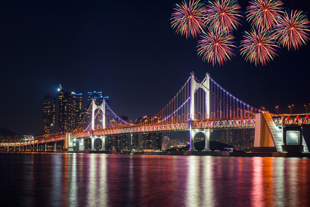 부산 광안리해수욕장일원에서 열리는 부산불꽃축제